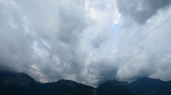 Thunderstorm over the mountain. Swiss Alps. Uri. Stock Footage