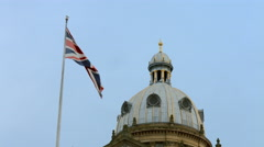 Birmingham, England - Victoria Square. Council House dome and flag Stock Footage