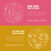 Website landing page template for wine industry Stock Illustration