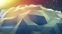 Polygonal shape vibrating seamles loop 3D render 4k UHD (3840x2160) Stock Footage