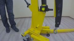 Manual pneumatic valve Stock Footage