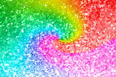 Abstract rainbow gold glitter background Stock Photos