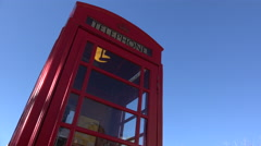 4K Man Enters Retro Telephone Booth Stock Footage