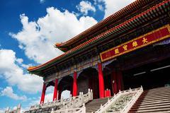 Chinese Buddhist monastery, Thailand Stock Photos