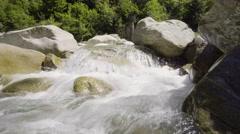 Wild Water flow river Stock Footage