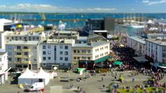 Brest, France - July 14, 2016: Timelapse - Maritime Festival - tilt shift - stock footage