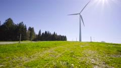 4K UHD Windmill against sunny sky Stock Footage