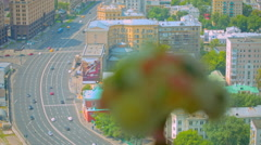 the bouquet on the background of the city - stock footage