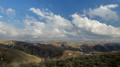 The formation and movements of clouds of the  mountains of Caucasus peaks. Stock Footage