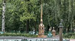 St. Petersburg. Mini City in the Alexander Park timelapse. Layout of Peter and Stock Footage