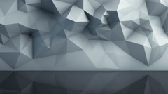 Polygonal surface with reflection loopable 3D render 4k UHD (3840x2160) Stock Footage