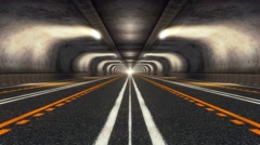 Highway Road Tunnel Stock Footage