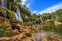 Kravice waterfall in Bosnia and Herzegovina - stock photo