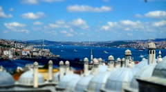 Bosphorus Strait Istanbul Turkey Time Lapse Stock Footage