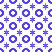 David Star Seamless Background. Symbol of Religion Stock Illustration
