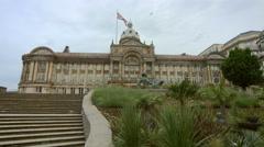 Birmingham, England - Victoria Square. Council Hose low angle Stock Footage