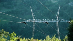 Power transmission line, 4K - stock footage