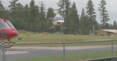 Helicopter Lands at Airport Arkistovideo