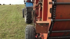 Agricultural machinery on the field Stock Footage
