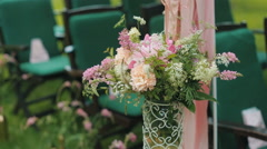 Decoration Flowers on wedding - stock footage
