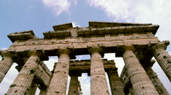 Temple of Neptune the famous Paestum in Italy Stock Footage