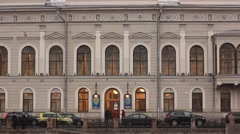Peter Carl Faberge museum in Saint Petersburg Stock Footage