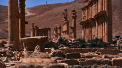 Ruins of ancient Palmyra Stock Footage