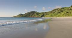 Spirits bay beach, northland, New Zealand Stock Footage