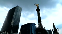 Mexico City Downtown, The Angel Monument. Stock Footage