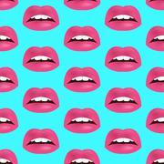 Glamour seamless lip pattern. Vector illustration for fashion design - stock illustration