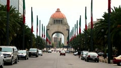 Mexico City , Monumento a la Revolución. Stock Footage