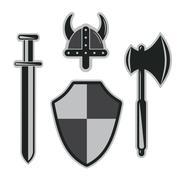 Viking armor set Stock Illustration