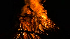 Bright fire burning close up Stock Footage