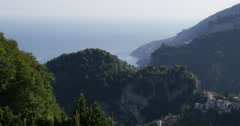 View from Ravello of Amalfi Coast, Italy Stock Footage