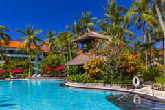 Nusa Dua resort in Bali Indonesia - stock photo