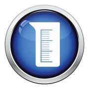 Icon of chemistry beaker - stock illustration