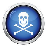Icon of poison from skill and bones Stock Illustration