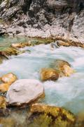 Mountain River. Scenic View Of Verdon River In France Stock Photos