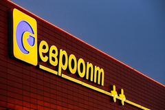 Logo of Evroopt on grocery store in Belarus Kuvituskuvat