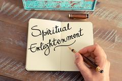 Handwritten text Spiritual Enlightenment - stock photo