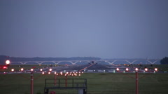 Planes taking off at night in Washington DC - stock footage