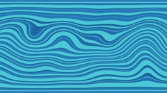 Beautiful abstract curly waves and lines loopable pattern. Navy blue version. Stock Footage