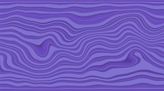 Beautiful abstract curly waves and lines loopable pattern. Ube and violet Stock Footage