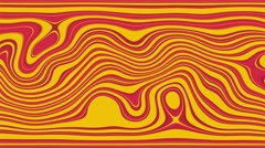 Beautiful abstract curly waves and lines loopable pattern. red, orange Stock Footage