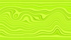 Beautiful hypnotic abstract curly waves and lines loopable pattern. Lime and Stock Footage