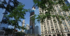 Work Continues on 3 World Trade Center in Manhattan  	 Stock Footage
