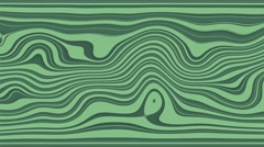 Beautiful hypnotic abstract curly waves and lines loopable pattern. Teal and Stock Footage