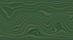 Beautiful hypnotic abstract curly waves and lines loopable pattern. Dark green Stock Footage