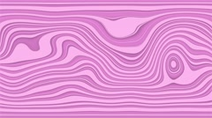 Beautiful hypnotic abstract curly waves and lines loopable pattern. Vivid pink Stock Footage