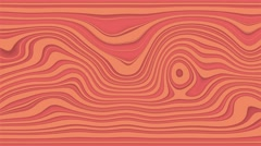 Beautiful hypnotic abstract curly waves and lines loopable pattern. Salmon rose Stock Footage